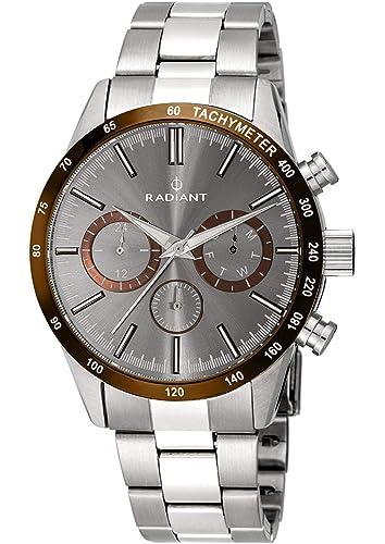 Radiant Reloj Analógico para Hombre de Cuarzo con Correa en Acero Inoxidable RA411203: Amazon.es: Relojes
