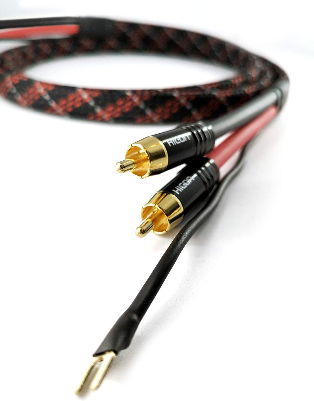 SC81-K3-V-Red-0100 - Cable RCA para Tocadiscos (1 m, 1,10 m de ...