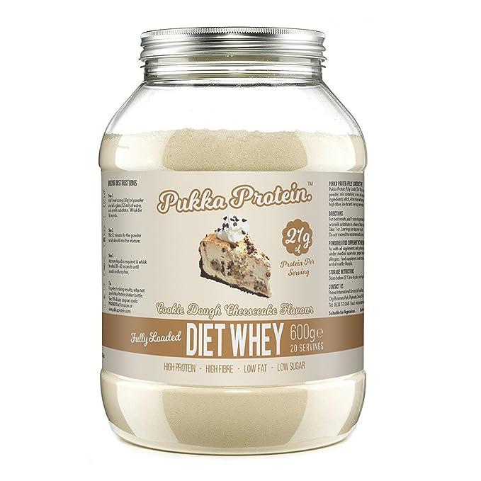 PUKKA PROTEIN - Proteína de Suero de Leche en Polvo Para Dieta Deliciosa - Sabor a Masa de Galletas y Pastel de Queso, Baja en Grasas, Alto Contenido ...