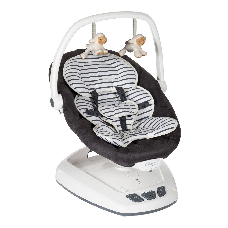 Graco Move with Me - Columpio para bebé, diseño rayas bretonas ...