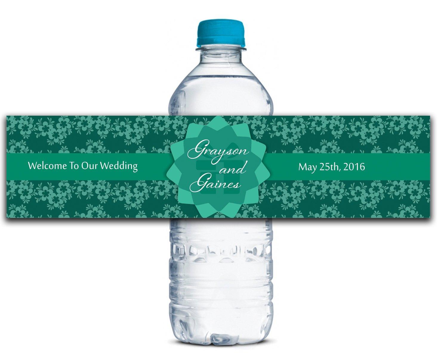 Personalisierte Personalisierte Personalisierte Wasserflasche Etiketten Selbstklebende wasserdichte Kundenspezifische Hochzeits-Aufkleber 8  x 2  Zoll - 50 Etiketten B01A0W53YK | Ausgezeichnete Leistung  57d9cd