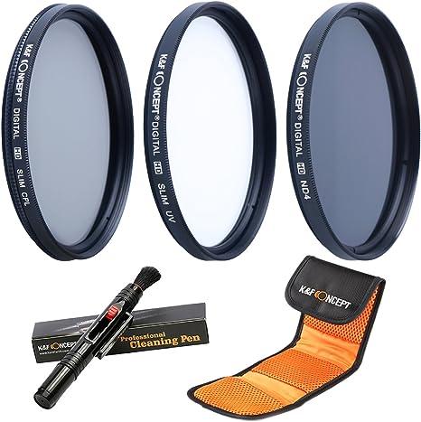 58MM UV CPL ND4 - K&F Concept 58MM Juegos de Filtros (58mm Filtro ...