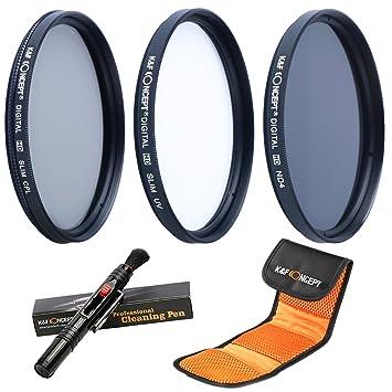 K F Concept 52MM UV CPL ND4 52MM Filtro Kit UV Protector Polarizador  Circular Filtro Densidad Neutra 85672f0796