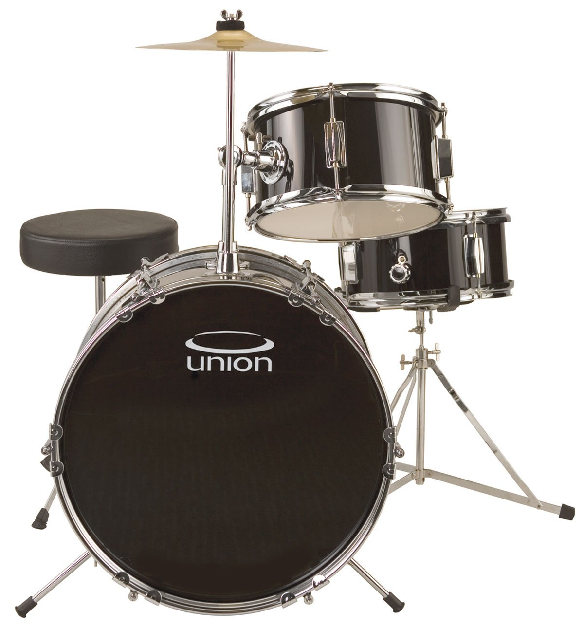 Union UJ3 3-piece Junior Drum Set - Black