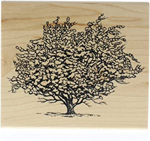 Inkadinkado Rubber Stamp-Ancient Apple Tree