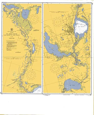Amazon.com: Vintography Reprinted 8 x 12 Nautical Map of St ... on saint francis river map, lower john day river map, oregon river map, potomac river map, south branch river map, saint clair river map, salem river map, saint john's florida map, st. louis river map, ice in st. clair river map, saint joe river map, susquehanna river map, st. lawrence river on us map, united states river map, saint lawrence river map, elizabeth river map, st. mary river florida on map, vicksburg river map, saint augustine river map, ohio river map,