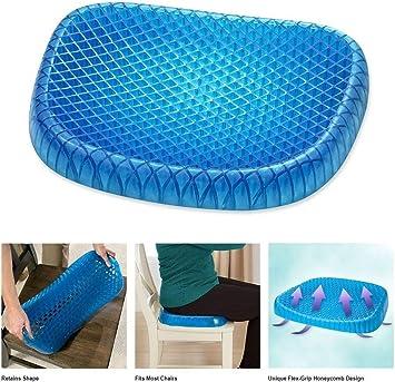 Cuscino a doppio comfort Cuscino di sollevamento sul cuscino del sedile Cuscino di sollevamento del cuscino del sedile blu Cuscino di supporto in schiuma di memoria ortopedica per sciatica,