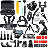 [61-in-1] Accessories Kit for GoPro HERO8 Black, GoPro MAX, Hero 8 7 6 5 4 3+, Session 5, Accessory Bundle Set for AKASO, APEMAN, DBPOWER, Campark, DJI OSMO, Lightdow, SJCAM, Sony, Yi Action Camera