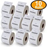 "10 Rolls DYMO 30334 Compatible 2-1/4"" x 1-1/4""(57mm x 32mm) Medium Multipurpose/Barcode/FNSKU/UPC/FBA Labels,BPA Free"