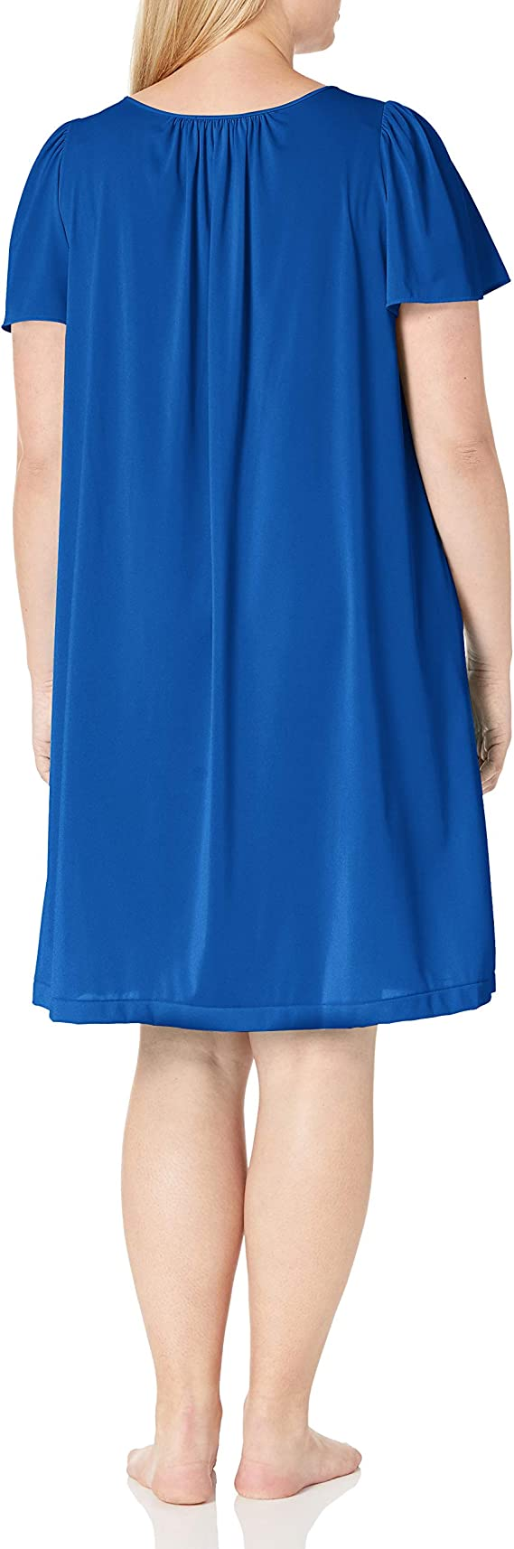 Details about  /Shadowline Women/'s Plus-Size Petals 40 Inch Short Flutter Sleeve Waltz Gown