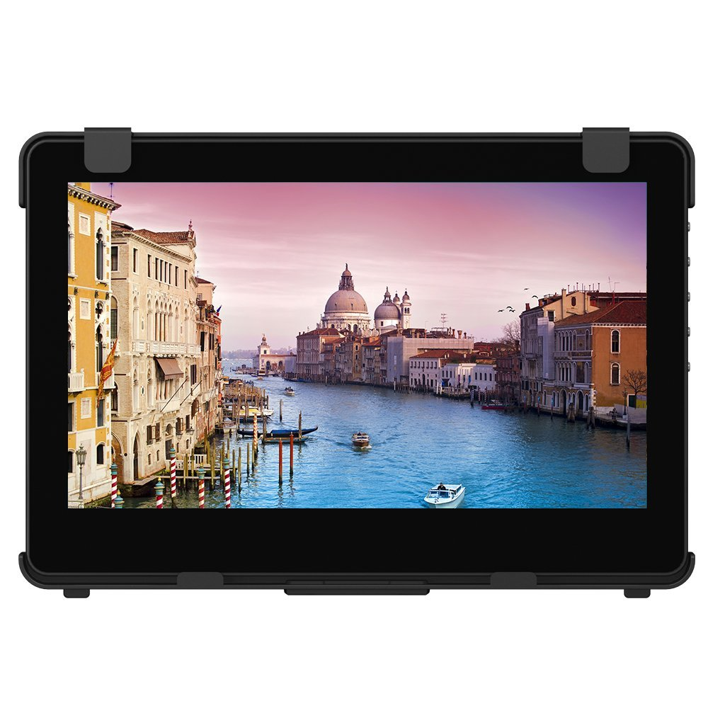 GeChic 1102I 11.6'' FHD 1080p Portable Touchscreen Monitor with HDMI & VGA video inputs, USB powered, Plug&Play, Ultralight and Slim, Built-in Speakers, Rear Docking by Gechic (Image #1)