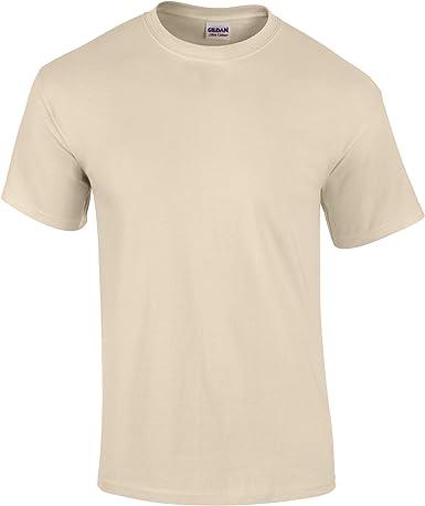 Gildan - Camiseta básica de manga corta Modelo Ultra Cotton para hombre caballero (Mediana (M)/Arena): Amazon.es: Ropa y accesorios