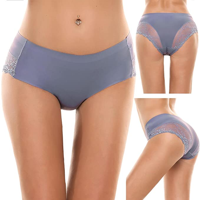 826e35cecb4822 Image Unavailable. Image not available for. Color: bulges Womens Sexy  Underwear Pack Sheer ...