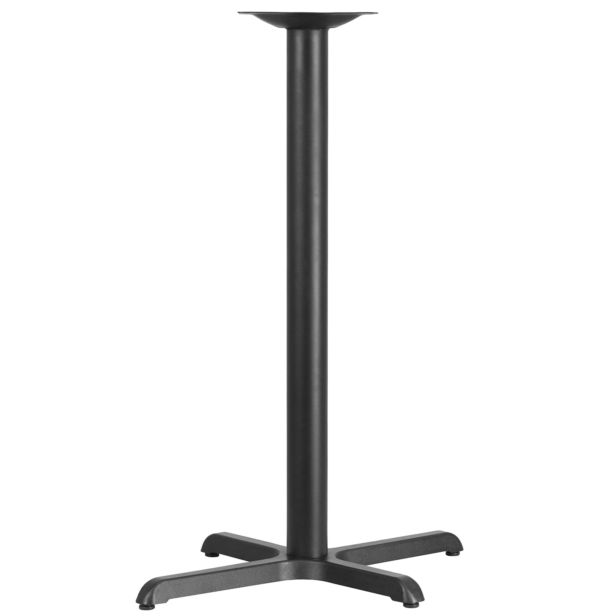 MFO 22'' x 30'' Restaurant Table X-Base with 3'' Dia. Bar Height Column