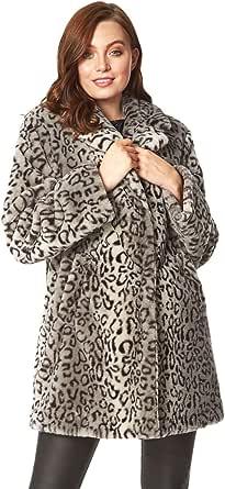 Roman Originals – Chaqueta de forro polar para mujer, con bolsillos informales y suaves, gruesas, cálidas, cómodas, cierre de botón a presión, otoño invierno