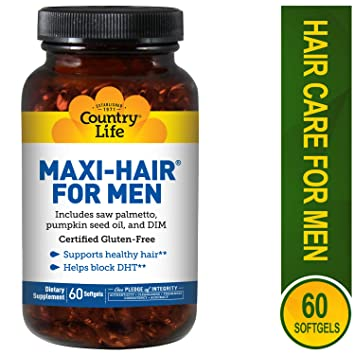 Country Life - Maxi-Hair for Men, with Saw Palmetto and DIM - 60