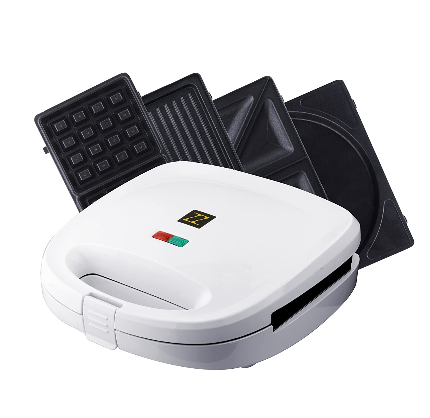4 in 1 waffle iron set panini omlette sandwich maker plate. Black Bedroom Furniture Sets. Home Design Ideas