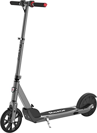 "Razor E Prime Electric Scooter - Up to 15MPH, 8"" Airless Flat-free Tires, Rear Wheel Drive, 250W Brushless Hub Motor, Super Lightweight 21lbs, Anti-Rattle, Aluminum Folding Electric Scooter for Adults best scooters for women"