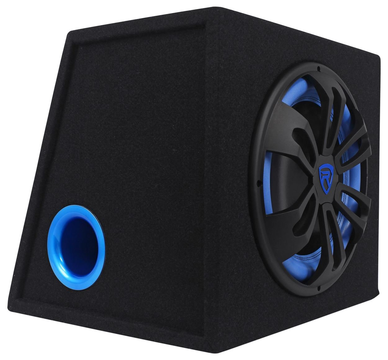 Rockville RVB12.1A 12 Inch 500W Active Powered Car Subwoofer+Sub Enclosure Box by Rockville