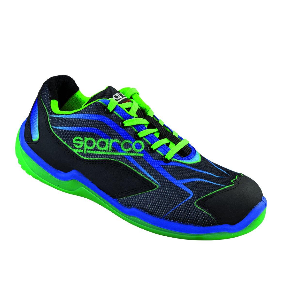 New Sparco 2015/16 S1P - Zapatos de seguridad para hombre (tallas 40, 41, 42, 43, 44, 45 y 46), color negro y rojo 52001