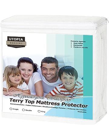 Utopia Bedding Protector de colchón Impermeable hipoalergénico Premium - Funda de colchón Equipada (135 x