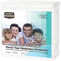 Utopia Bedding Protettore del Materasso Impermeabile Ipoallergenico Premium - Senza Vinyl - Si Adatta al Coprimaterasso