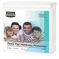 Protettore del Materasso Impermeabile Ipoallergenico Premium - Senza Vinyl - Si Adatta al Coprimaterasso da Utopia Bedding