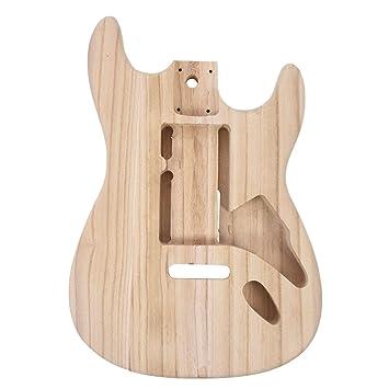 Cuerpo de guitarra eléctrica de madera de arce, tipo Stratocaster, ...