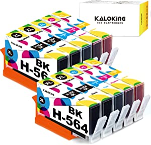 Kaloking Compatible Ink Cartridge Replacement for HP 564 XL 564XL Combo Pack for use with HP Photosmart 3520 5520 5510 5514 6510 6520 6515 7520 7510 7525 B8550 C6380 D7560 209A C309A 10-Pack