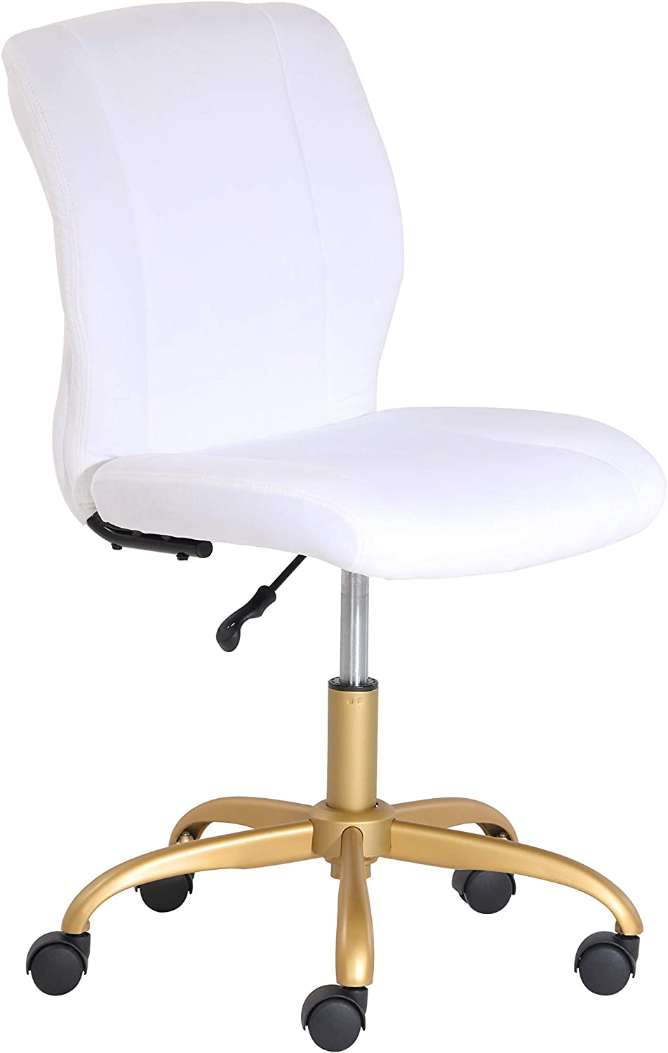Mainstays White Plush Velvet Office Chair