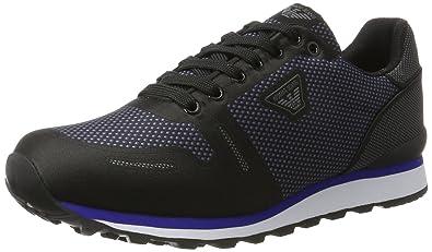 c4dcf2815aad Armani Jeans Sneaker Low Cut, Baskets Homme, Noir (Nero 00020), 44 ...