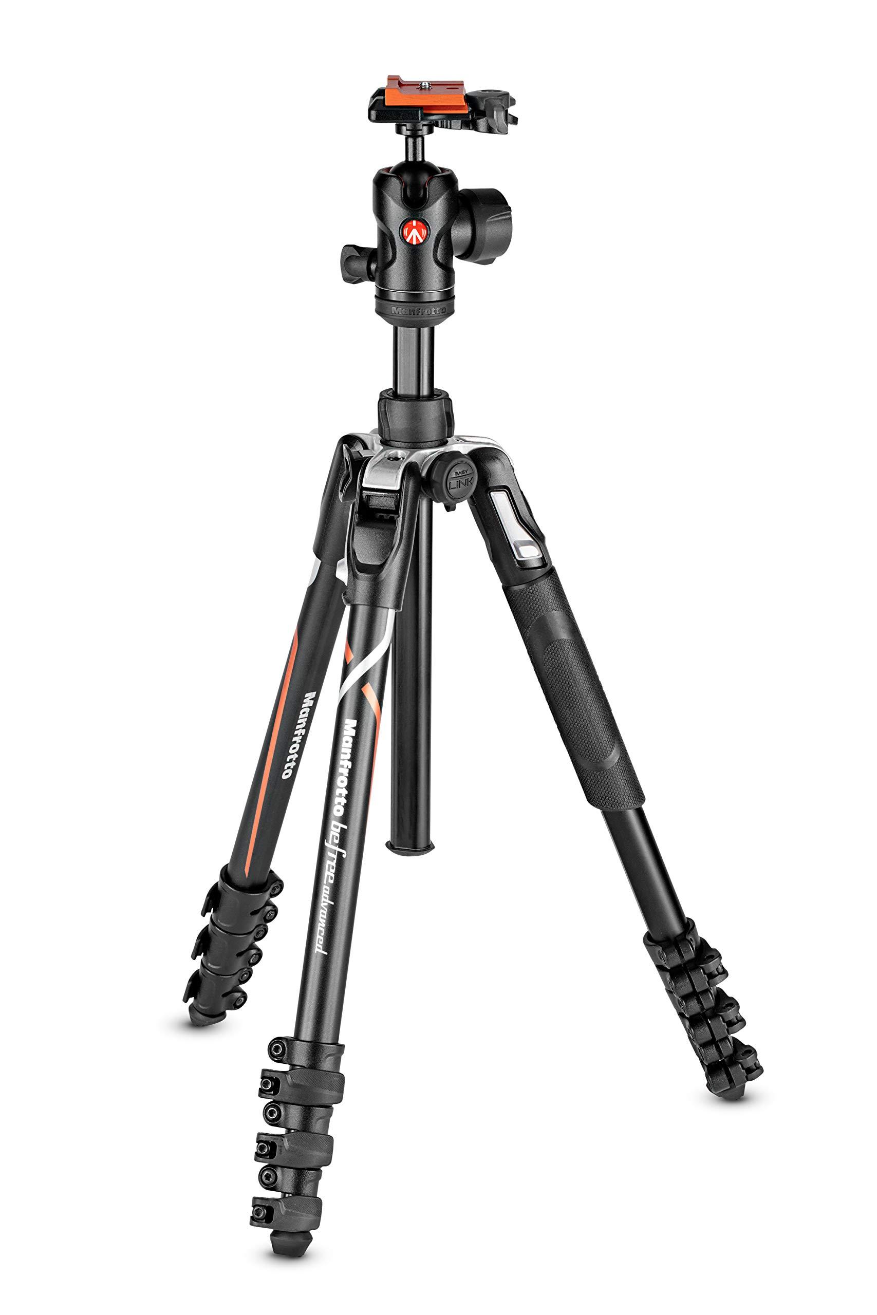 Manfrotto MKBFRLA-BH Digital/Film Cameras 3leg/Leg Black,Silver Tripod