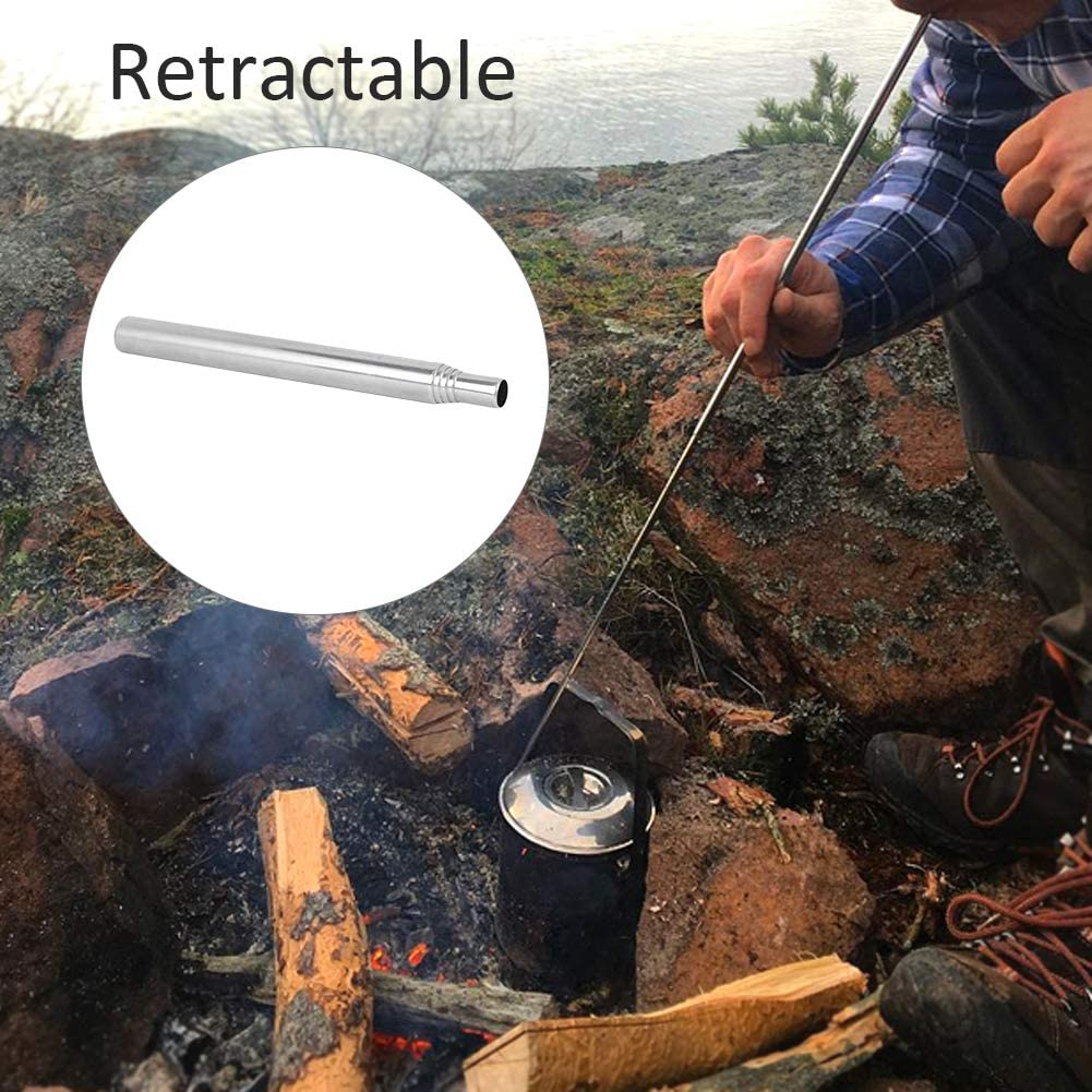 Keenso Tube de feu ext/érieur Pliable 2 pi/èces 15 cm//5.9in souffleur de feu t/élescopique en Acier Inoxydable pour Barbecue de Camping en Plein air