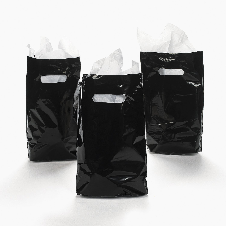 ブラック色付きParty Treatプラスチックバッグ( 50 pc。) B01N90AUPP