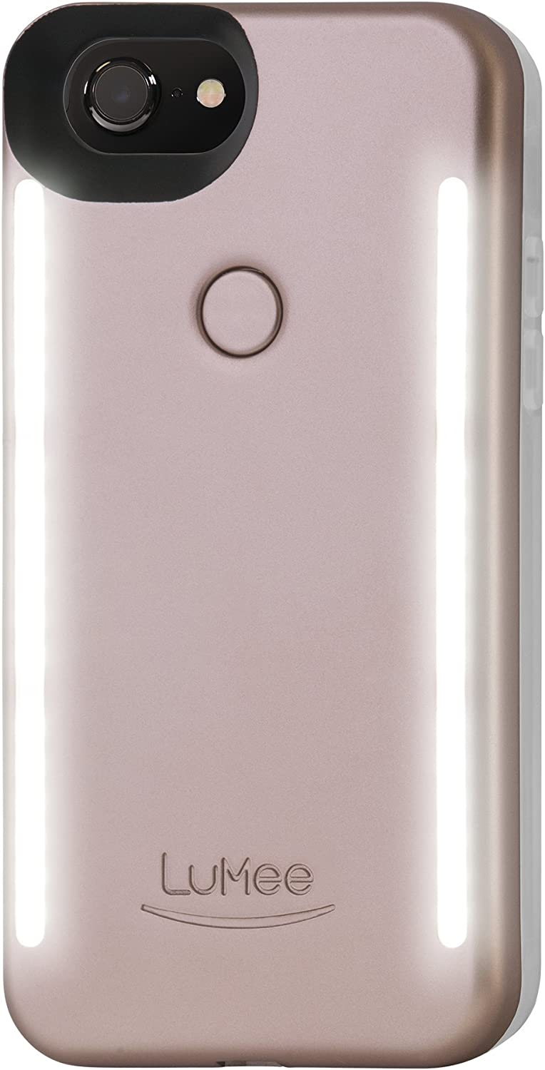Amazon Com Lumee Duo Cell Phone Case For Iphone 8 Also Fits Iphone 7 Illuminated Led The Original And Authentic Celebrity Endorsed Light Up Case Rose Matte