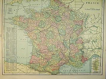 Irland Karte Europa.1901 Karte Irland Frankreich Europa Mittelmeer Biskaya Amazon De