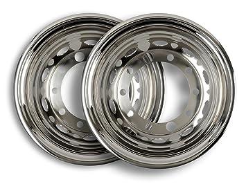 2 x Tapacubos Acero Inoxidable 22,5 pulgadas - Llanta - Revestimiento - para camiones (de acero inoxidable): Amazon.es: Coche y moto
