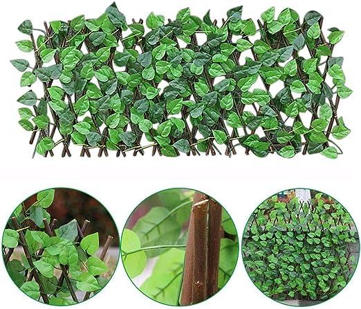 sunflowerany Seto Artificial Artificial Panel De Estera De Valla Falsa De Jardín con Celosia Extensible Hojas para Valla De Balcón Protección De Privacidad, Protección UV para Jardín Patio Decoración: Amazon.es: Hogar