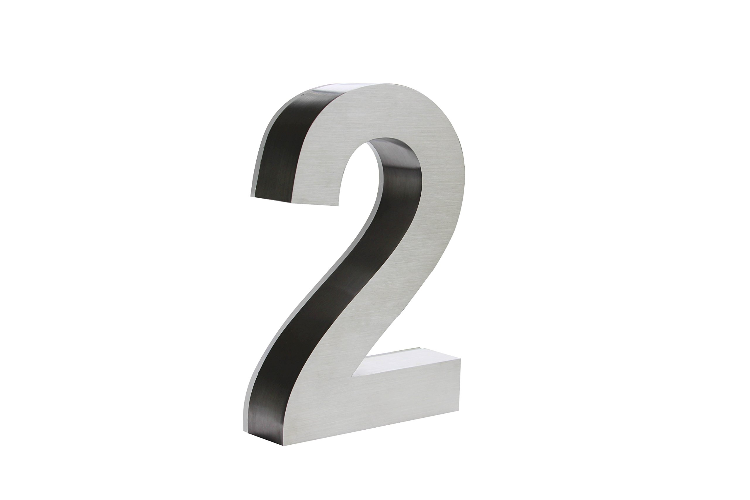 Backlit LED House Numbers (8 inch White) Big, Modern Address Signs for Homes | Soft, Exterior Glow | Brushed Stainless-Steel Finish | Weather Resistant, Durable, Wired | by JELSCO (2)