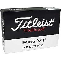 Titleist Pro V1 Practice Golf Balls, White (One Dozen)