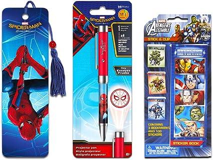 InkWorks Marvel - Juego de bolígrafo proyector con marcapáginas y ...