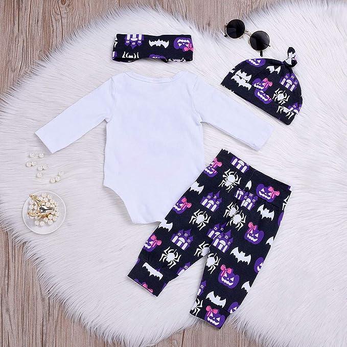 Bestow Diademas Pantalones Casquillo Trajes de Halloween BebšŠ Carta de Manga Larga Impreso Infant Baby Girls Boys Romper: Amazon.es: Ropa y accesorios