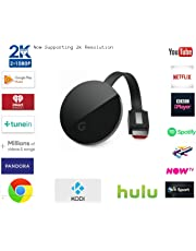 Wireless HDMI screen mirroring display dongle – GcastUltra second generation media wifi streaming receiver HD1080p-2k picture, For Android / Windows / iOS / Mac Devices / Miracast Airplay DNLA