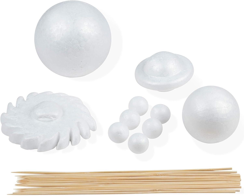 Polystyrene Foam Balls Solar System Planet Craft Pack Make Your Own Solar System
