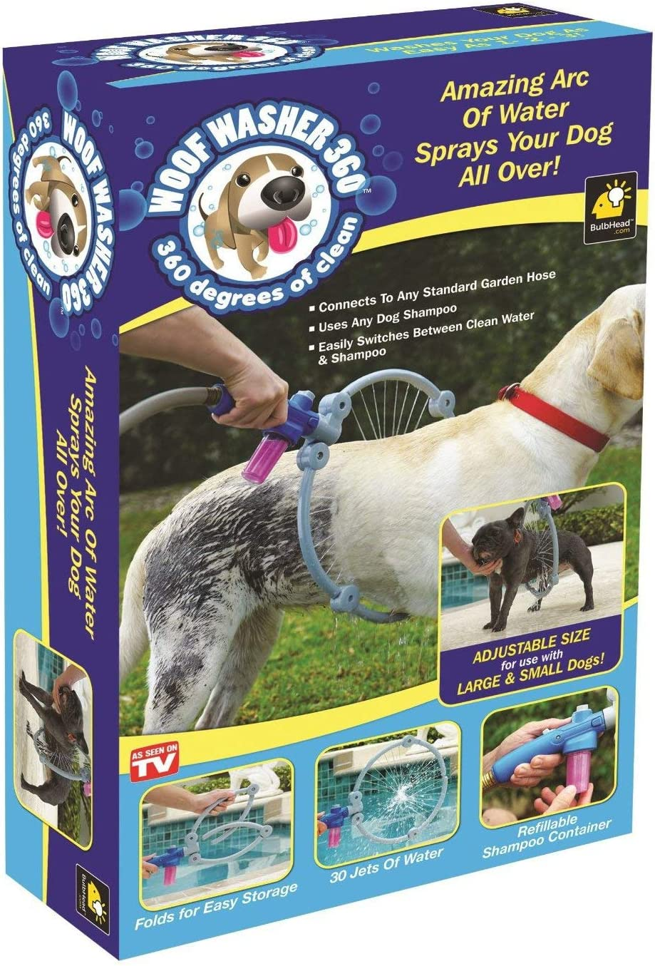 Pet Dog Cat Bathing Cleaner 360 Degree Shower Tool Kit Cleaning Woof Washer 360 By Bulb Head Perfect Dog Washing Station PT0858