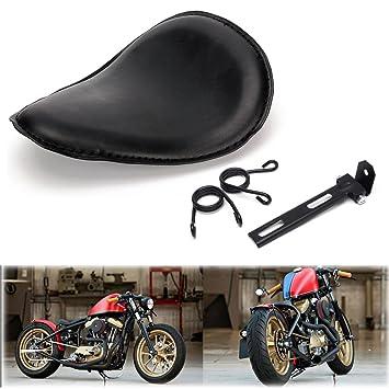 Triclicks Motorrad Solo Sitz Sattel Einzelsitz Mit Federn Und Halterungsset Fur Honda Yamaha Kawasaki Suzuki Chopper