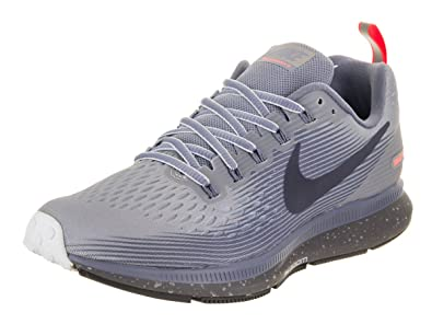 Nike Womens Air Zoom Pegasus 34 Running Shield Shoe Wolf Grey/Thunder Blue-Dark