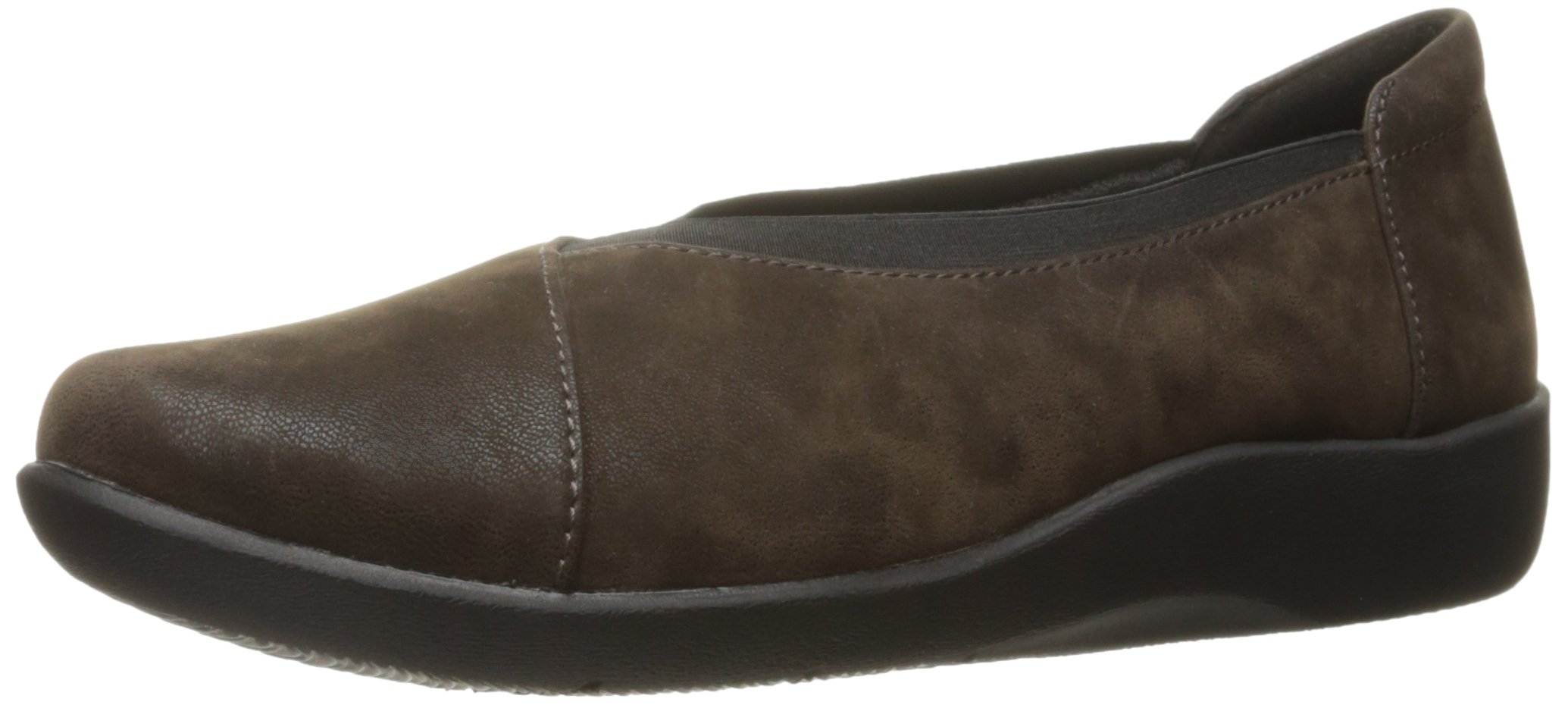 CLARKS Women's Sillian Holly Flat, Brown Synthetic, 8.5 M US