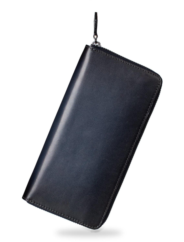 (ポヨリー) POYOLEE 財布 メンズ 長財布 本革 ラウンドファスナー 大容量 人気 B07CLL99N1 ダークグレー ダークグレー