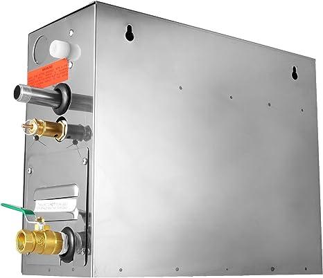 Guellin 6KW Generador de Vapor Portátil Generador del Vapor de Sauna Generador del Vapor con Temperatura y Contador de Tiempo del Regulador de Digitaces (6KW): Amazon.es: Bricolaje y herramientas